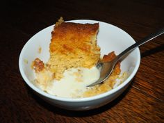 Do yourself (and who ever you might cook this for) and try this recipe! This is one of the few things my husband can and will cook for people (the other things are cu… Butterscotch Pudding, Egg Toast, Dessert Recipes, Desserts, Custard, Cornbread, Bbq, Cook, Canning