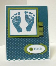 Baby Boy Thank-you by sgillespie - Cards and Paper Crafts at Splitcoaststampers