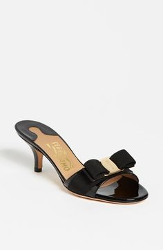 Salvatore Ferragamo Glory Bow Trim Sandal available at #Nordstrom