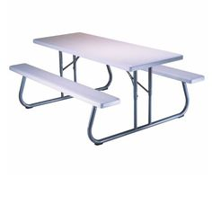 Lifetime Picnic Tables - 880215 White Granite Top 6 Ft. Picnic Table - 10 Pack