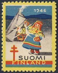 Finland 1946-Christmas seal