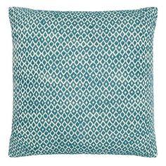 Home Collection Dark turquoise diamond cushion | Debenhams