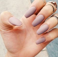 Mauve matte nails                                                                                                                                                                                 More