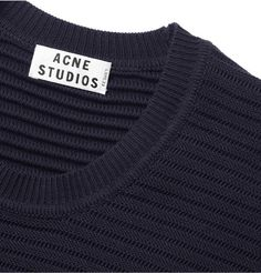 Acne  Cusco Knitted Cotton Crew Neck Sweater