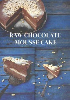 Raw Chocolate Mousse Cake. #Raw #Raw_food #Healthy #Recipe #Chocolate #birthday #vanilla #baking #supe_foods #Cake #Cheesecake #Mousse #Sugar_free #gluten_free #no_sugar #Paleo #Piece_of_cake #Awesome #Yummy #Yes