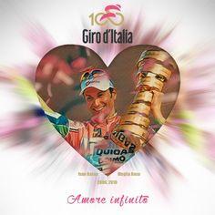 """""""La Maglia Rosa è un sogno"""" 🚴 """"Le Maillot Rose est un rêve"""" 🚴 """"The Pink Jersey is a dream"""" @ivanbasso @giroditalia #Giro100 #AmoreInfinito"""