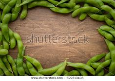 Japan pigeon pea or Edamame or Soybeans with center area for typography