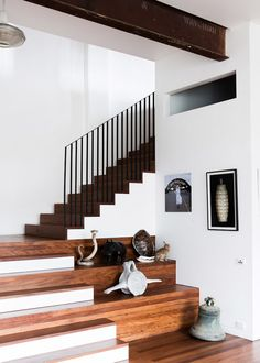 stairs, plus display and seating space.  photo by sean fennessy.