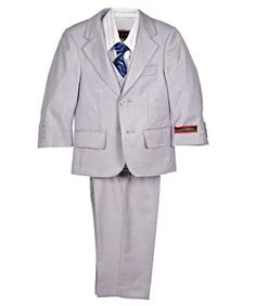 James Morgan Slate & Stripe 5-Piece Suit (Sizes 12M - 24M) $39.99