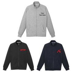 """Promotional Men's Silas Fleece Full Zip Jackets: A perfect corporate apparel during chilly and harsh winter months. Available Colors: Navy, Heather Gray, Black. Product Size: S, L, XL, 2XL, 3XL. Imprint Area: Centered on Left Chest Right Chest 3.00"""" H x 3.00"""" W. Material: 80% Cotton 20% Polyester #fashion #sweatshirt #promotionalproduct #men"""