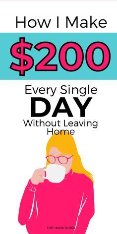 Earn Money From Home, Make Money Fast, Earn Money Online, Making Money From Home, Online Income, Online Jobs For Moms, Leaving Home, Work From Home Jobs, Money Tips