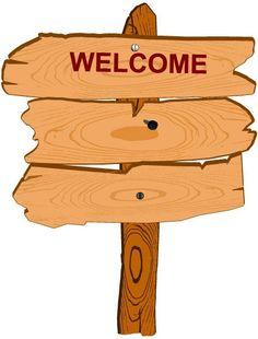 cartoon wood sign