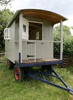 Shepherds hut. I wonder if they have need for a shepard in Ireland, I could get one of these, and follow the sheep, and protect us all from the wolves of the world.