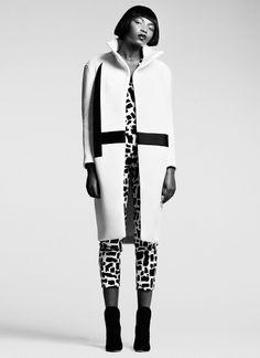 Maverick Monochrome- maven46: White Neoprene Coat