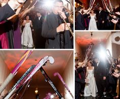 field hockey sticks incorporated into her wedding
