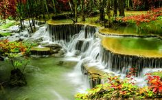 Huay Mae Khamin Waterfall, Thailand jigsaw puzzle in Waterfalls puzzles on TheJigsawPuzzles.com