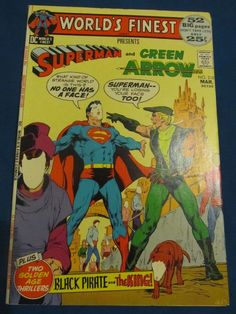 WORLD'S FINEST COMICS #210 (MAR 72) VF/NM(9.0)! SUPERMAN/GREEN ARROW ADAMS COVER