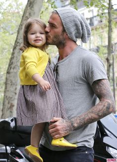 Becks and his little girl joined Victoria Beckham on a shopping trip on Friday. - Celebuzz