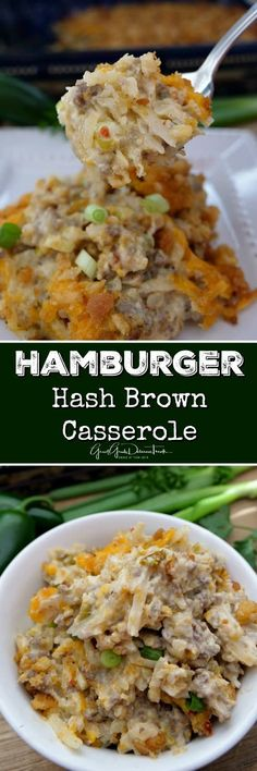 Hamburger Hash Brown Casserole is full of delicious flavor, ground beef, sour cream, cheese, onions and topped with a crouton topping. - Best All Recipes Hashbrown Hamburger Casserole, Hashbrown Breakfast Casserole, Breakfast Potatoes, Chicken Casserole, Beef Dishes, Food Dishes, Main Dishes, Potato Recipes Crockpot, Cooking Recipes