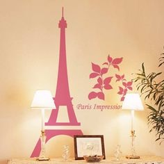 Paris Vinyl Wall Decal Paris Skyline City View Building Paris Impression Quote Art Wall Sticker Bedroom Romantic Home Decoration
