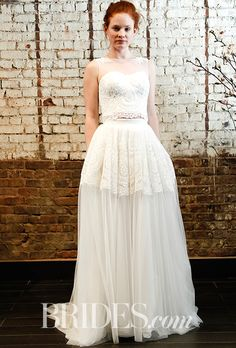 Brides.com: . Wedding dress by Ivy & Aster