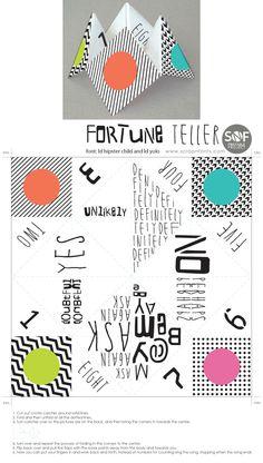 Cute Printable Fortune Teller