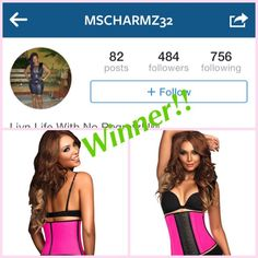 And the #WINNER of this week #GIVEAWAY is....@MSCHARMZ32 the winner was selected by today's day the 20th since is the Independence of Colombia. We counted from top to bottom some else won but since they didn't follow @MCHARMZ32 was next. #Congrats contact us tomorrow for details on how to get your #Waisttrainer #AnnChery