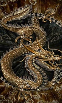 Golden Serpentine Dragon