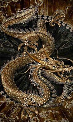 Golden Serpentine Dragon