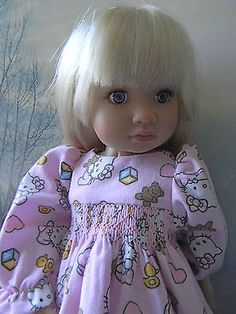 Hello-Kitty-Smocked-Nightgown-for-a-KidznCats-Doll-by-lkb