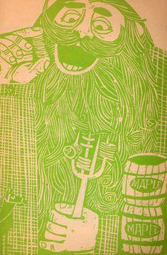 The Story of Paul Bunyan by Barbara Emberley, woodcuts by Ed Emberley (1963).