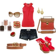 Red, brown, gold summer