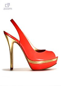 These stunning coral platform slingbacks are perfect for spring