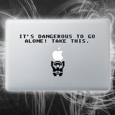 zelda inspired macbook decal by Walkingdeadpromotions, $9.99