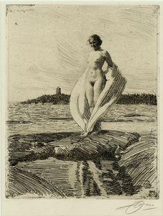 The Swan (Svanen) by Anders Zorn, 1915