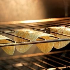 5. Make taco shells at home with just tortillas and an oven.