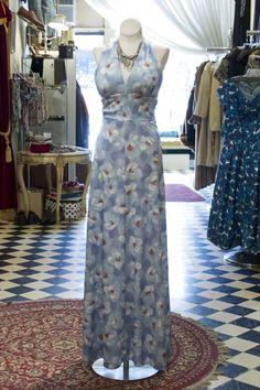 Cabaret Vintage - 1970s Blue Halter Vintage Dress , $62.50 (http://www.cabaretvintage.com/dresses/1970s-blue-halter-vintage-dress/)