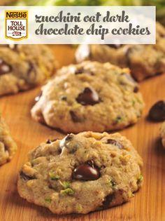 Zucchini Oat Dark Chocolate Chip Cookies