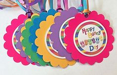 Easter Bunny Tags Basket Tags Happy Bunny Day Rainbow Gift Tag Treat Goodie 8P #CoutiqueChicGallery
