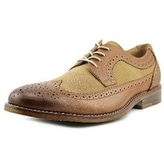400dbed1f4a Bass Clinton Men Wingtip Toe Leather Tan Oxford