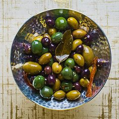 Guests will want to scoop up these delicious marinated olives, so make extra. Chef Recipes, Appetizer Recipes, Appetizers, Appetizer Ideas, New Year's Eve Cocktails, Marinated Olives, My Burger, Tasting Table, Quick And Easy Breakfast