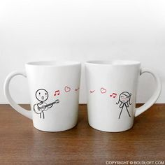 Love Me Tender His and Her Coffee Mugs-BoldLoft offers novelty coffee mugs for couples. For those time you want to be reminded for your love, BoldLoft his and her wedding coffee mugs are the ideal and unique gifts for him, her, couples, boyfriend, girlfriend, husband, and wife plus anniversary, wedding, Valentine, and engagement.