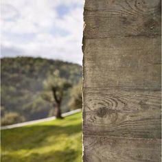 Wood imprint on concrete façade