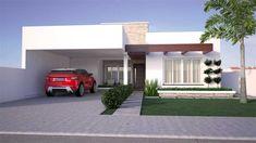 Projeto de casa moderna com 2 quartos e 1 suíte - Monte Belo do Sul