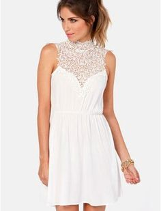 50 White #Dresses Under $50, perfect for the @Lisa White Night #party
