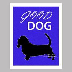 Basset Hound Dog Art Print Dog Print Dog by PawsomeArtDesigns, $11.99