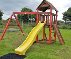 The Little Swing and Slide is ideal fun for younger children. Indoor Playhouse, Build A Playhouse, Swing And Slide, Hybrid Design, Play Houses, Playground, Summertime, Wallpaper, Building