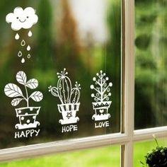 Cute window sticker design. Stay display inspired! #retaildetails
