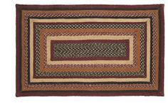 """Bancroft Jute Rug Rectanglar 72x108"""" by Victorian Heart. $239.95. High end quality and workmanship!. All cloth items in our collections are 100% preshrunk cotton. All braided items (like rugs, baskets, etc.) are 100% jute. Bancroft Collection colors: Burgundy, Black, Brown, Khaki (not all items have all colors). Extensive line of matching items and accessories available! (Search by Collection name). Product measurements and additional details listed in title and/or Product Descr..."""