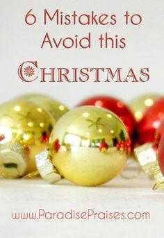 6 Mistakes to Avoid
